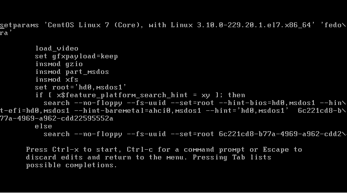 how to set the grub password - CentOS 7 GRUB2 Edit Menu Entry